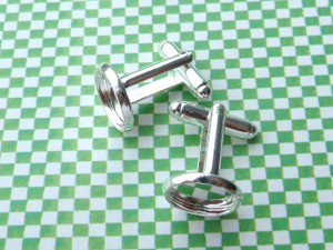 Shallow Cufflinks with 12mm Round Cup