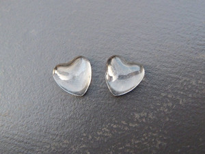 Crystal Clear Glass Hearts 12mm