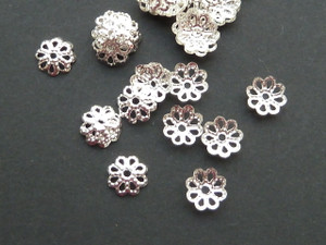 Filigree bead caps (50pk)