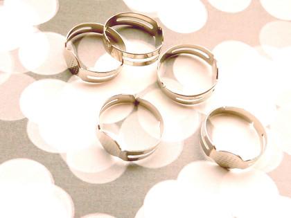 Pad rings antique silver - medium