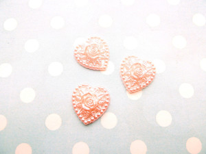 Pink resin hearts