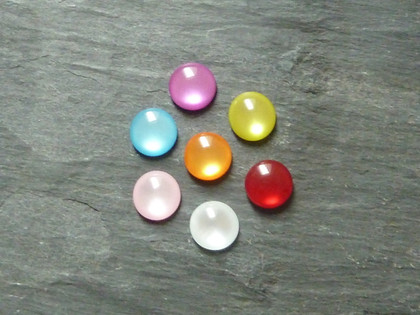 Faux Cats Eye Cabochons 10mm