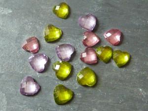 Acrylic Heart Gems