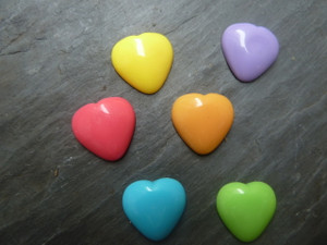 Heart Cabochons 18mm