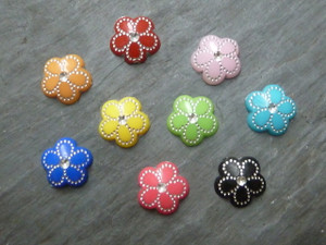 Silver Detailed Flower Cabochons