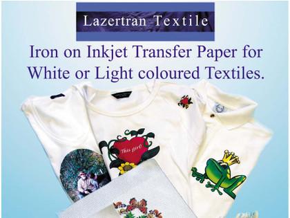 Lazertran Inkjet Light Cloth Transfer Paper for Fabric