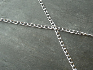 Fine Aluminium Curb Chain By The Metre