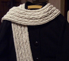 Cables and Lace Scarf