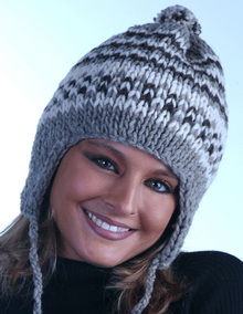 Striped Earflap Hat