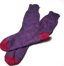 Heel and Toe Crew Socks