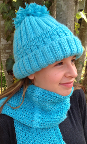 Ocean Breeze Hat and Scarf