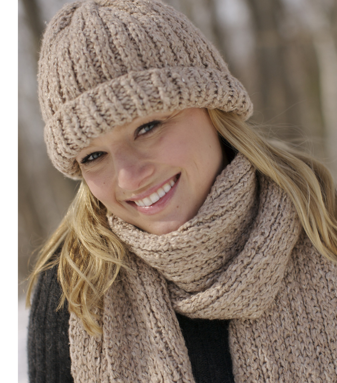 3602a8d762109 Ribbed Hat and Scarf Set - http   www.knittingboard.com