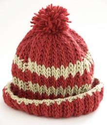 Stripe Hat in Rib Stitch