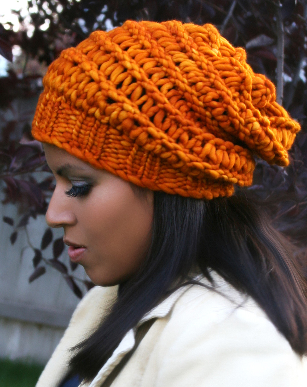 Autumn Slouchy Hat - http   www.knittingboard.com  4fd335cd18