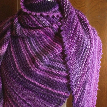 Picot Triangle Shawl