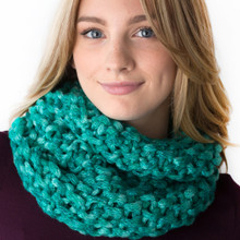 Turquoise Chic Cowl