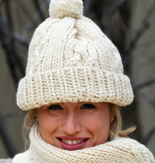 Classic Cable Hat Set