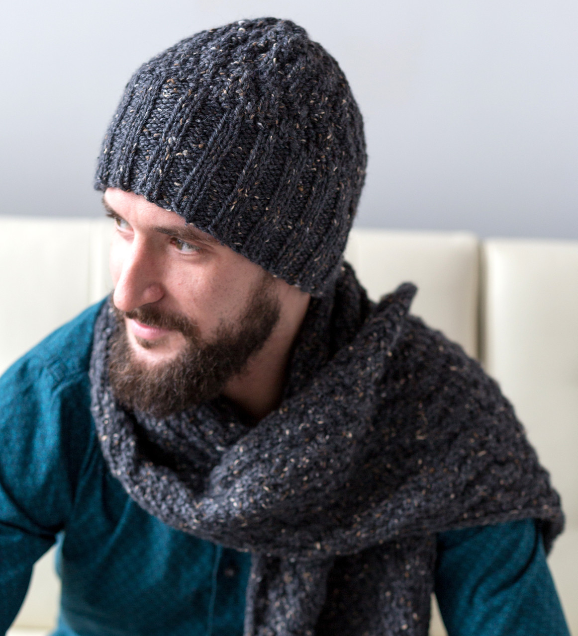 Men S Cable Hat And Scarf Http Www Knittingboard Com