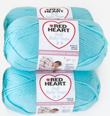 Red Heart Soft Baby Steps (3 pack) Color: Aqua
