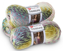 Red Heart Boutique Treasure  (3 pack)  Color: Watercolor