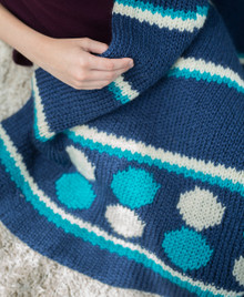 Blue Waves Afghan