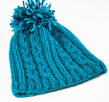 Blue Reeds Cable Hat