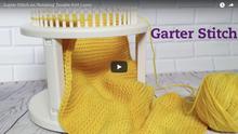 Garter Stitch on Double Knit Loom