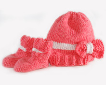 Baby Bow Hat & Booties