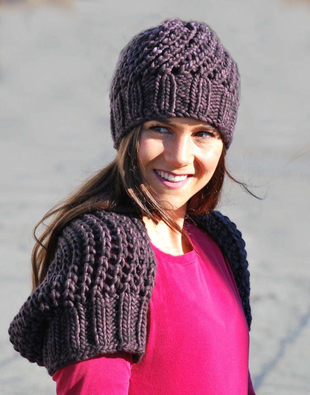 Shrug and Slouchy Beanie - http   www.knittingboard.com  758502ee993
