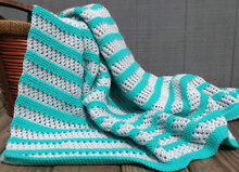Aqua Stripe Blanket