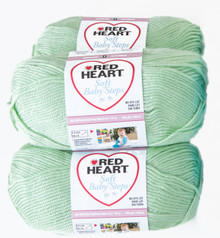 Red Heart Soft Baby Steps (3 pack) Color: Green