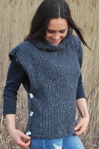 Soft Tweed Poncho