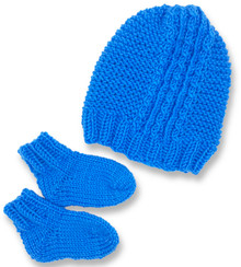 Twist & Ribs Baby Hat and Bootie
