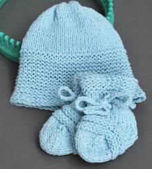 Baby Sky Hat & Booties