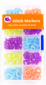 Silicone Rubber Stitch Markers (240 pack)