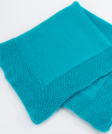 Seed Stitch Border Baby Blanket