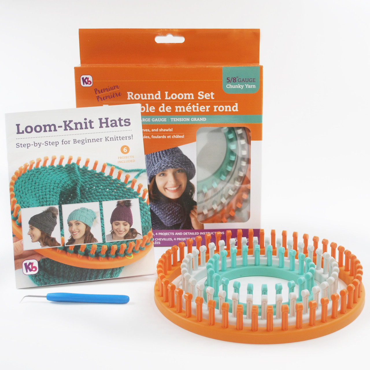"Authentic Knitting Board Premium Round Loom Set 3//8/"" Gauge"