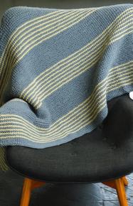 Garter Stitch Striped Blanket