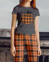 Orange Plaid Pumpkin T-Shirt & Orange Plaid COMFORTI™ Leggings Matching Set