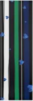 Julia Green Blue Stripes & Heart Yoga Mat