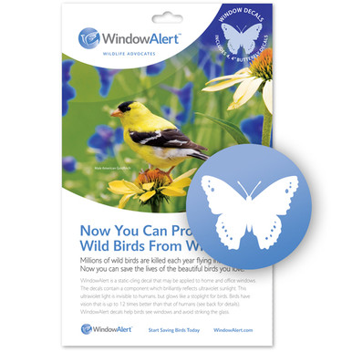 Butterfly Window Decal - Prevent Bird Strikes