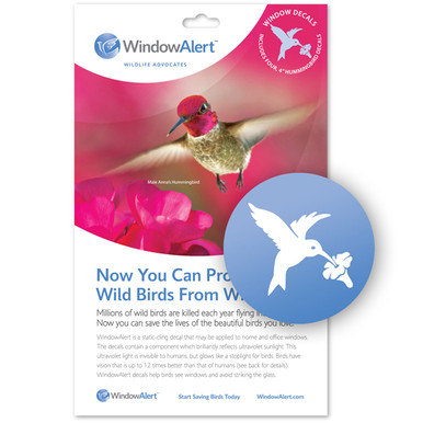 Hummingbird Window Decal - Prevent Bird Strikes