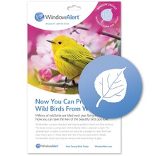Aspen Leaf Window Decal - Prevent Bird Strikes
