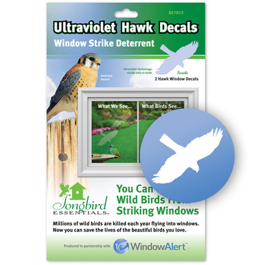 Hawk Window Decal - Prevent Bird Strikes
