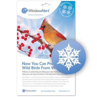 Snowflake Window Decal - Prevent Bird Strikes
