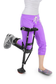 iWALK2.0 Knee Crutch Hands Free Crutch Alternative iWALK2.0 is an obvious alternative to conventional crutches, allowing its user: • Hands free, pain free mobility • Self-sufficiency through use of their hands • The ability to lead functional lives again • End the under-arm, hand and wrist pain from conventional crutches • Efficiency of walking due to using their legs for support instead of their hands and arms • Ability to navigate stairs with ease and safety • Heightened well-being due to retaining an active, productive lifestyle