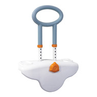 Michael Graves Clamp On Height Adjustable Tub Rail with Soft Cover Soap and Shampoo Dish