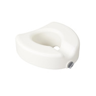Premium Plastic Raised Toilet Seat with Lock, Elongated By Drive