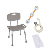 Shower Tub Chair Bathroom Safety Bundle By Drive