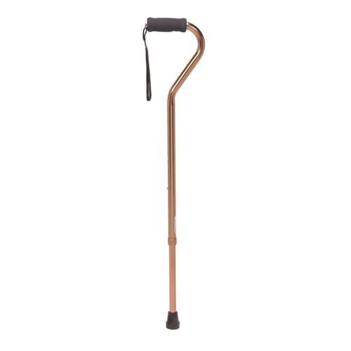 Foam Grip Offset Handle Walking Cane, Bronze